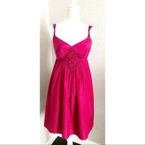 Pink Fuchsia Silk Ted Baker Dress Size Medium